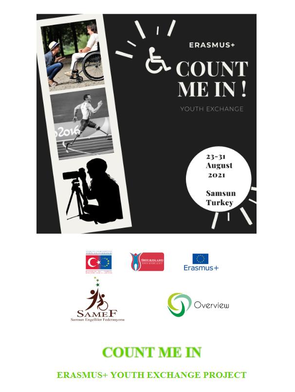 "Progetto Erasmus+ ""Count me in"" Cercasi Partecipanti"