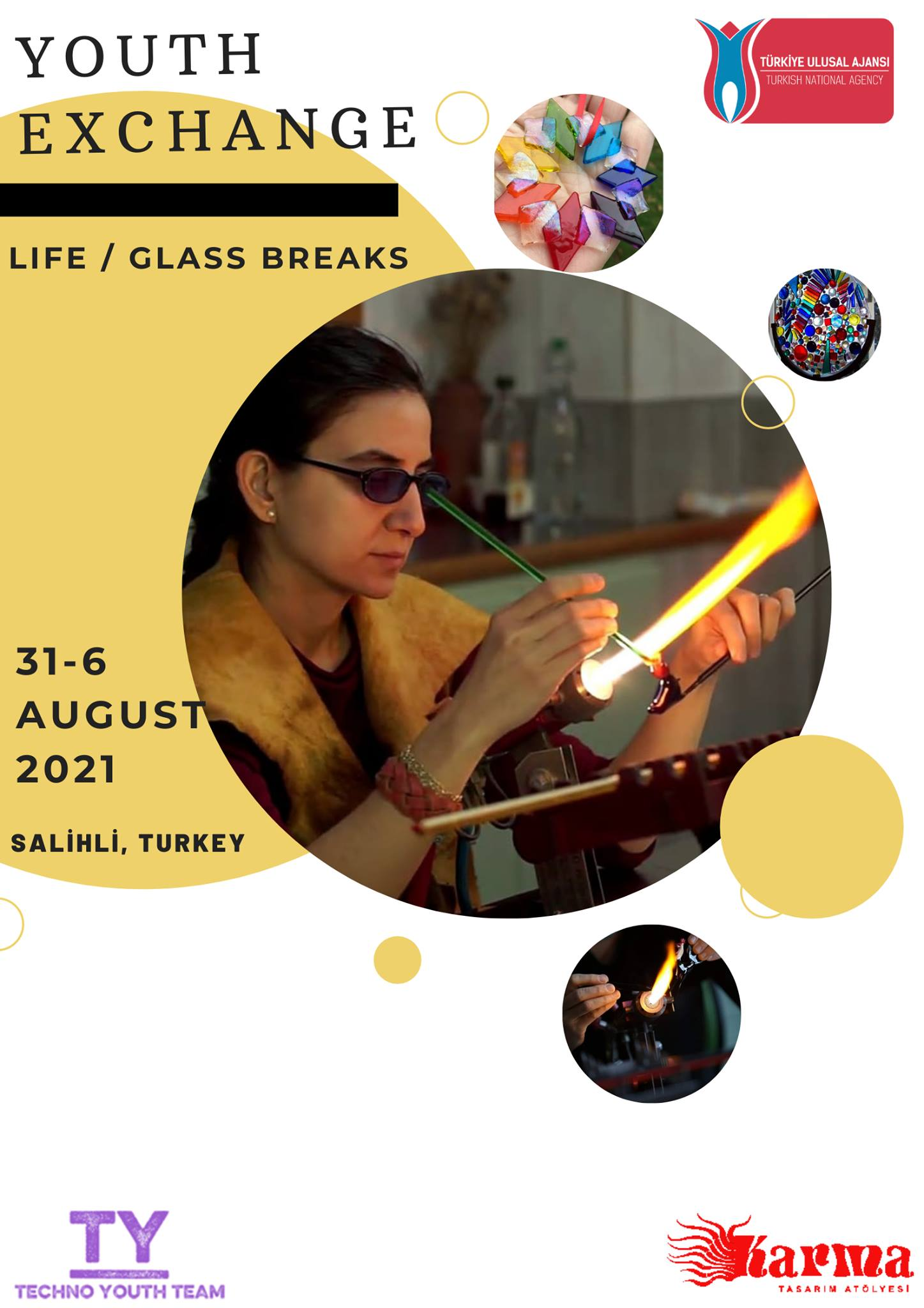 "Progetto Erasmus+ ""LIFE / GLASS BREAK"" Cercasi Partecipanti"